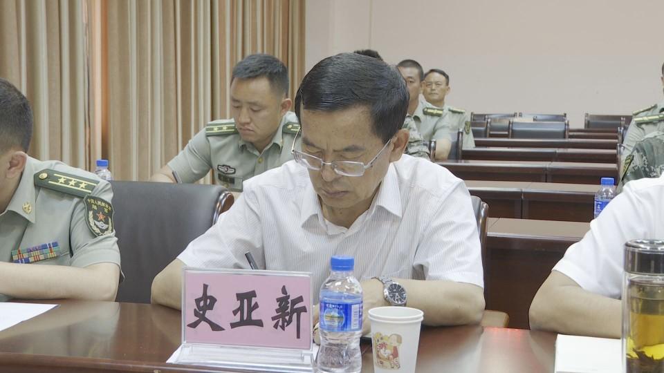 县四套班子领导参加玉溪军分区党委第一书记任职宣布大会